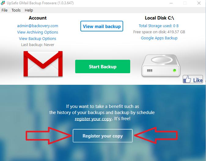 gmail backup 0.104 gratis
